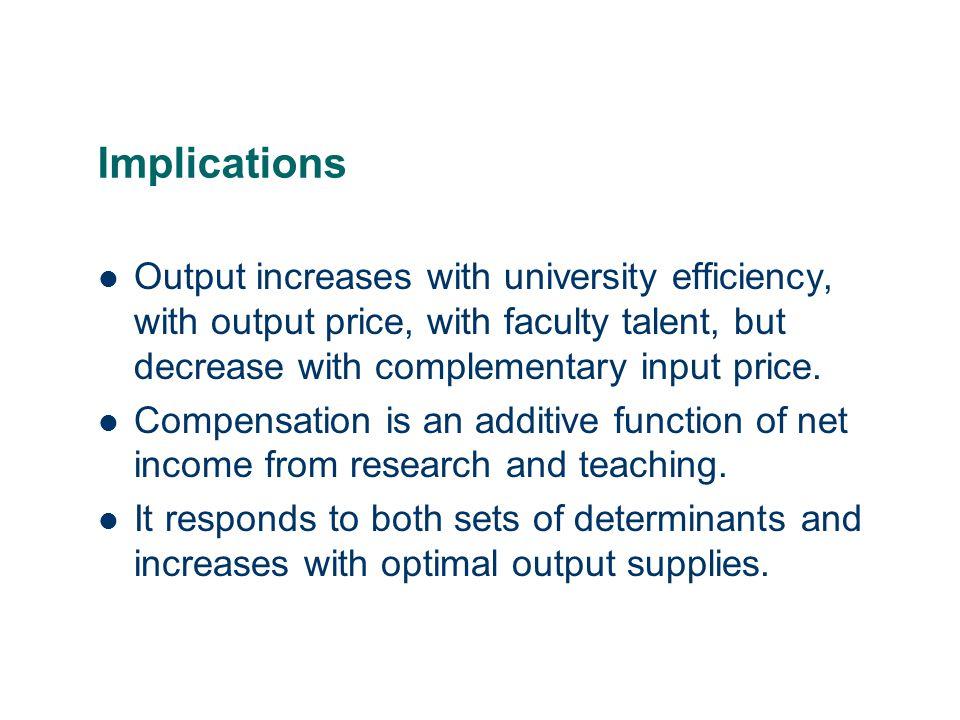 28 Regression Analysis of Teaching Productivity We undertook a similar analysis of teaching productivity.
