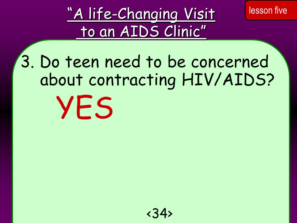 3.Do teen need to be concerned about contracting HIV/AIDS.
