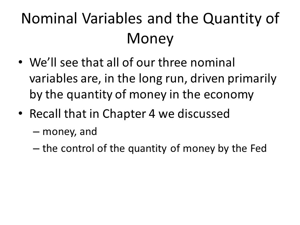 The money supply and monetary policy definitions The quantity of money available in the economy (M) is also called the money supply Monetary policy is the control of the money supply.