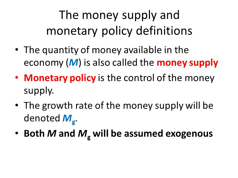 Inflation in the Long Run In the long run, the inflation rate = the rate at which the money supply grows – the rate at which real GDP grows – Example: if real GDP grows at the annual rate of 3.5% and if the quantity of money grows at the annual rate of 4%, then the rate of inflation will be 0.5%