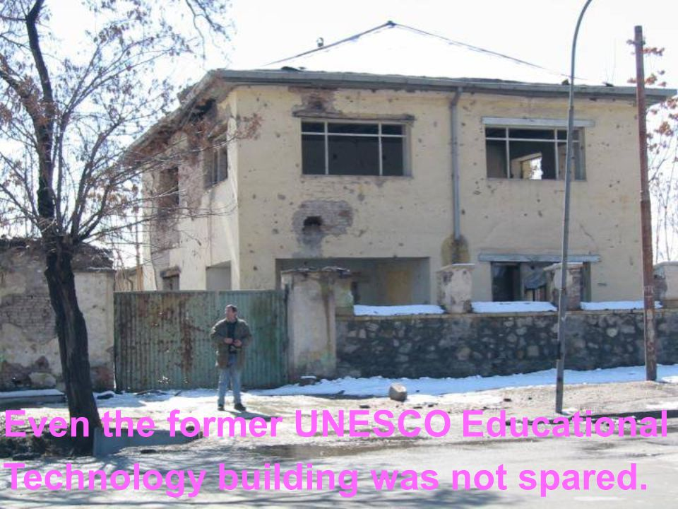 Even the former UNESCO Educational Technology building was not spared.