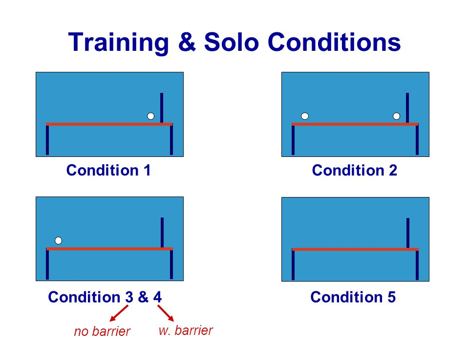 Training & Solo Conditions w.