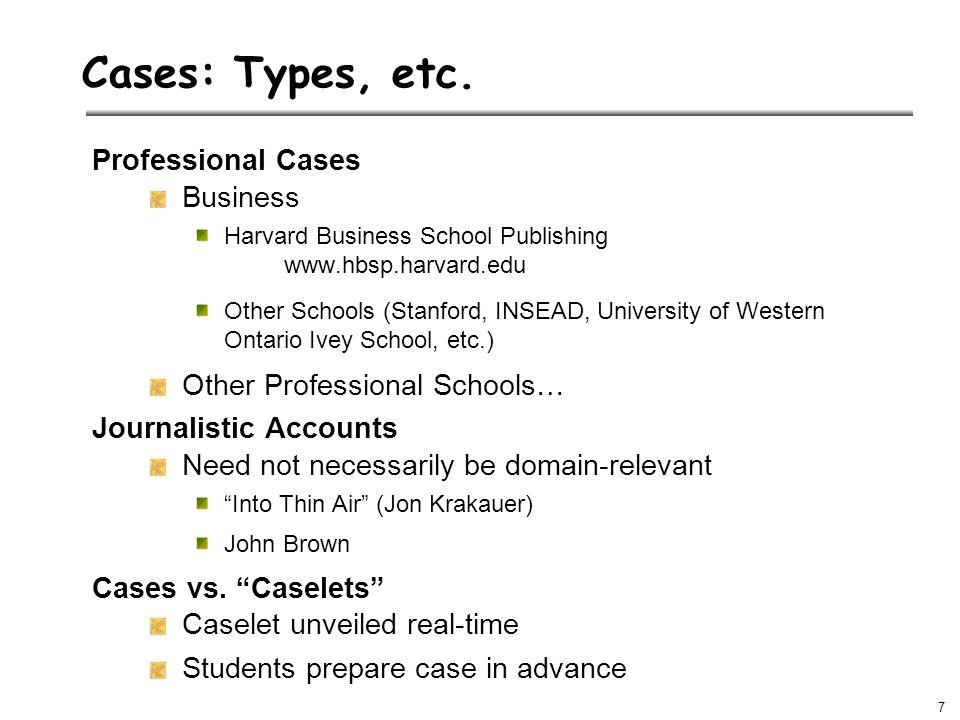 7 Cases: Types, etc.