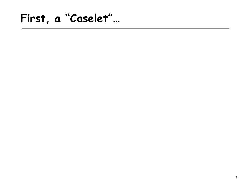 8 First, a Caselet …