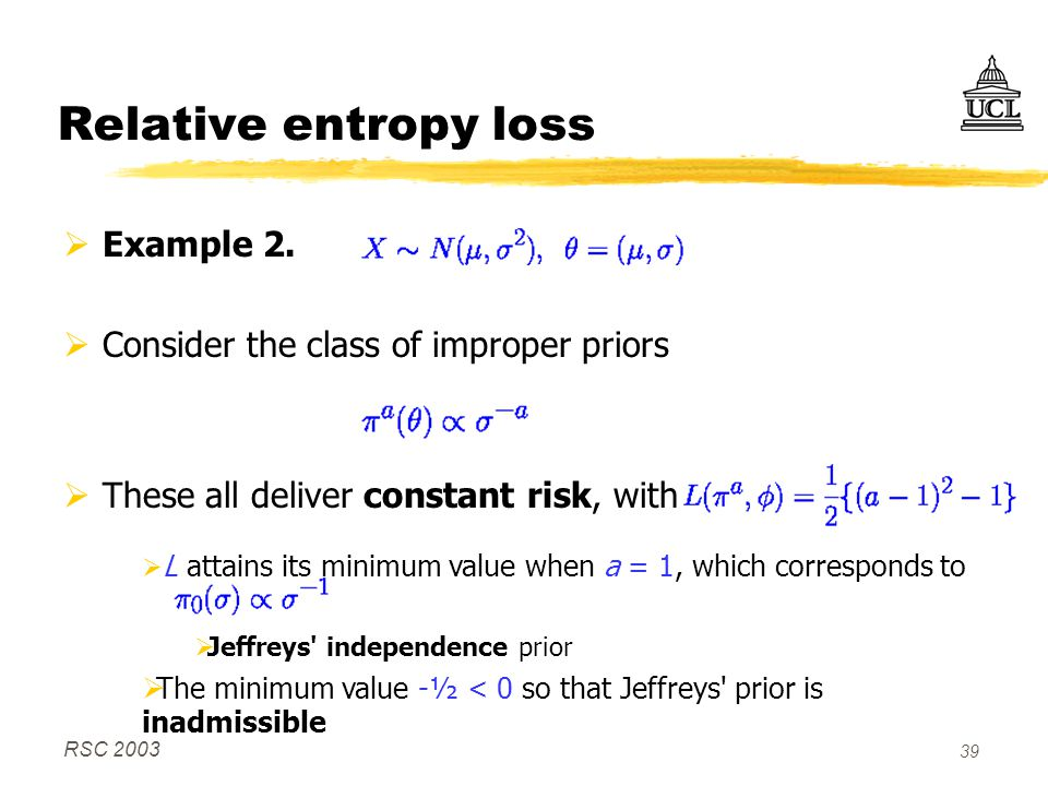 RSC 2003 39 Relative entropy loss  Example 2.