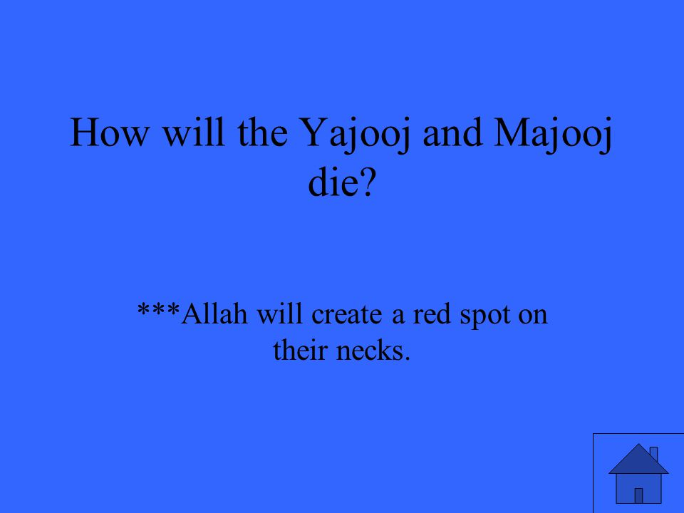***Allah will create a red spot on their necks.