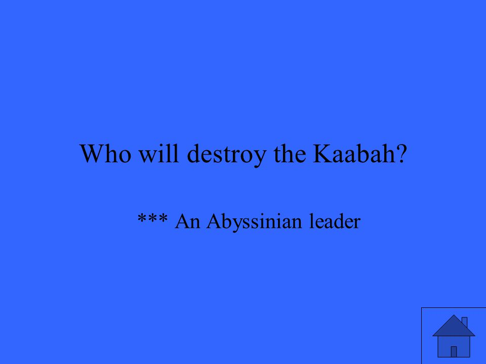 *** An Abyssinian leader