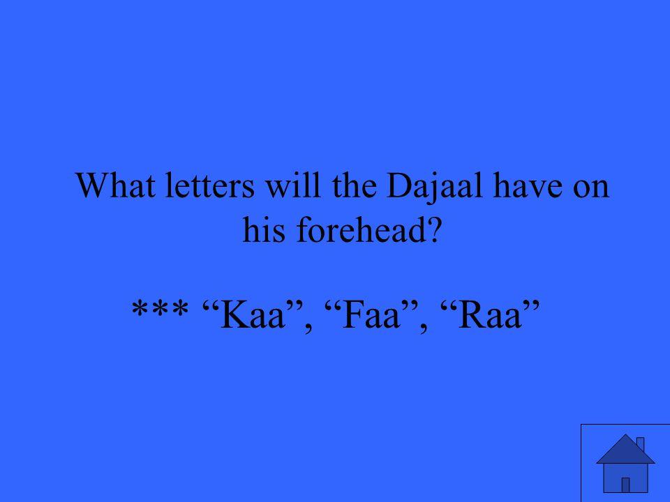 *** Kaa , Faa , Raa