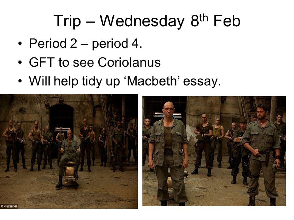 Trip – Wednesday 8 th Feb Period 2 – period 4.