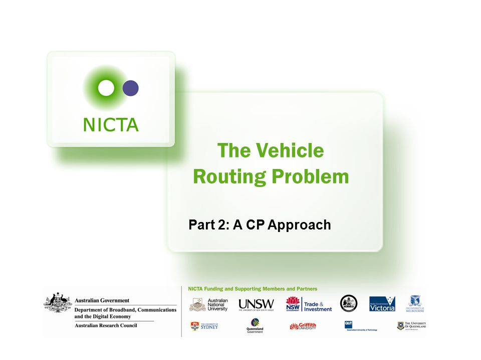 The Vehicle Routing Problem Part 2: A CP Approach