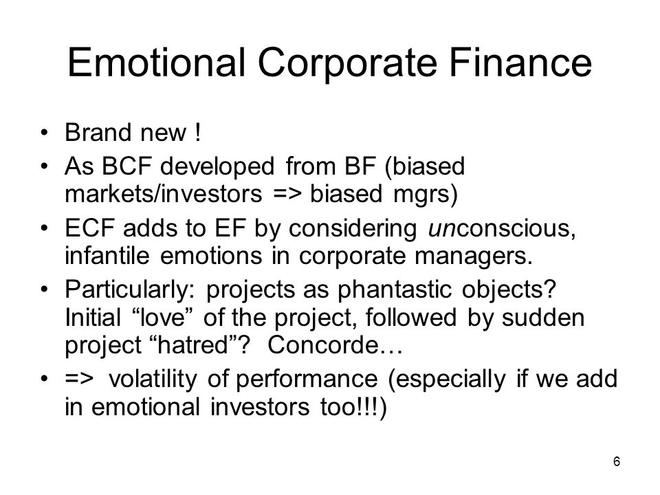 6 Emotional Corporate Finance Brand new .