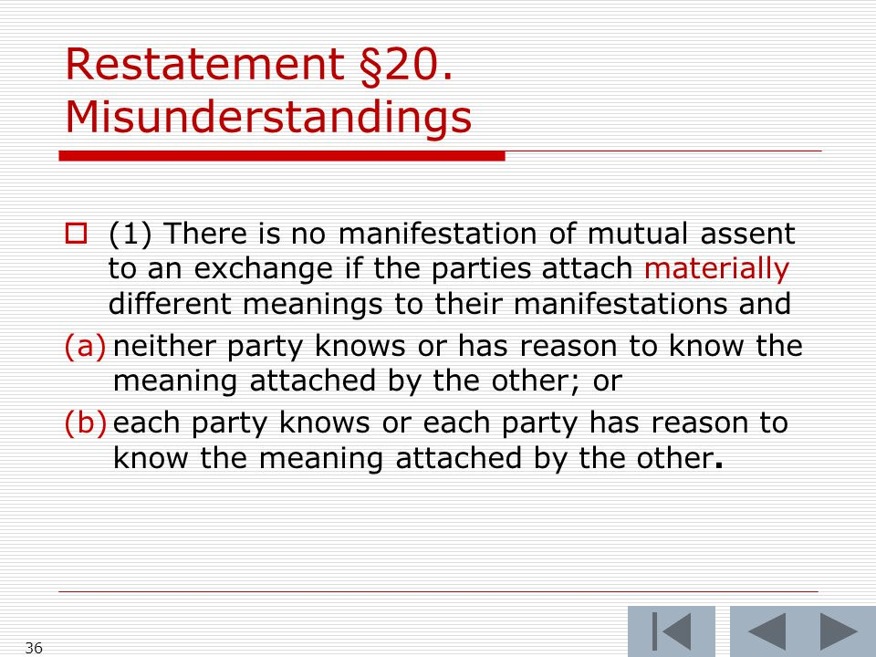 Restatement §20.