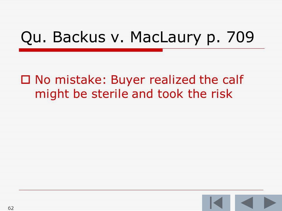 Qu. Backus v. MacLaury p.