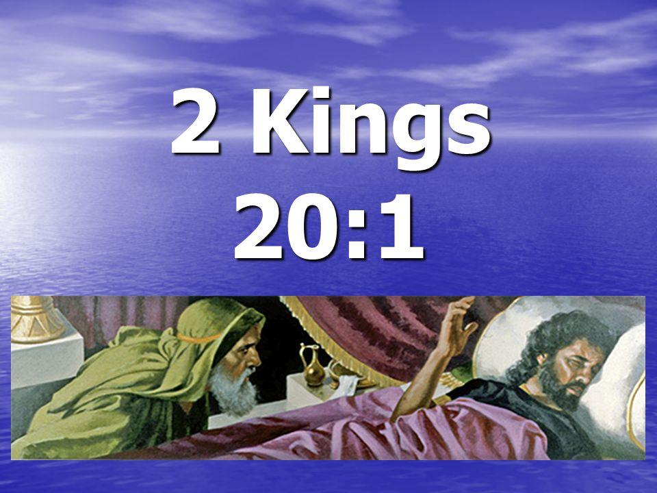 2 Kings 20:1