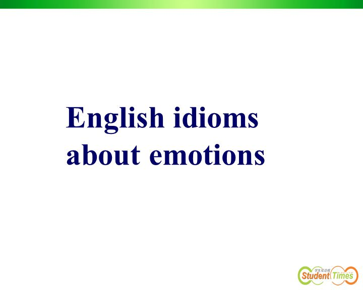 English idioms about emotions