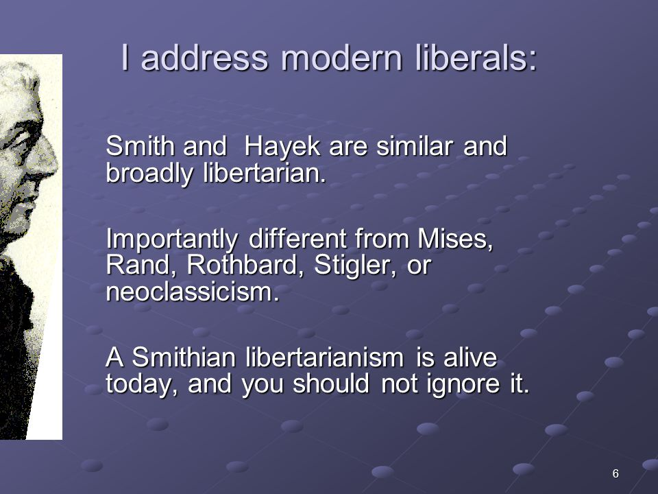 37 Smith and Hayek taught that libertarian arrangements tend to align Joy and agent interest.
