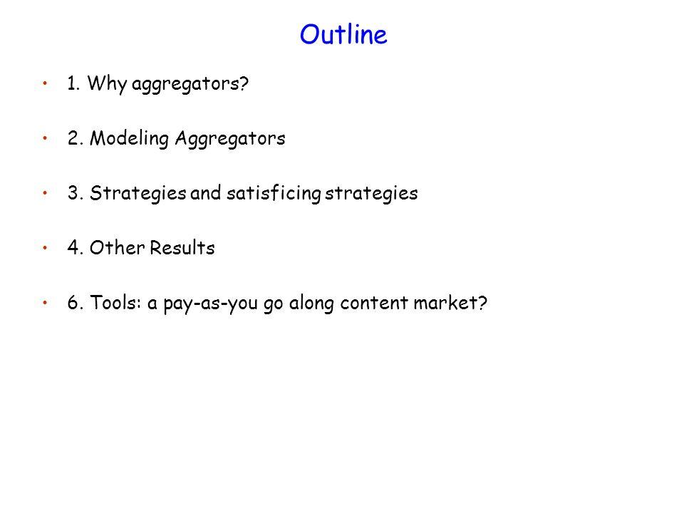 Outline 1. Why aggregators. 2. Modeling Aggregators 3.