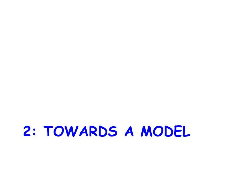 2: TOWARDS A MODEL