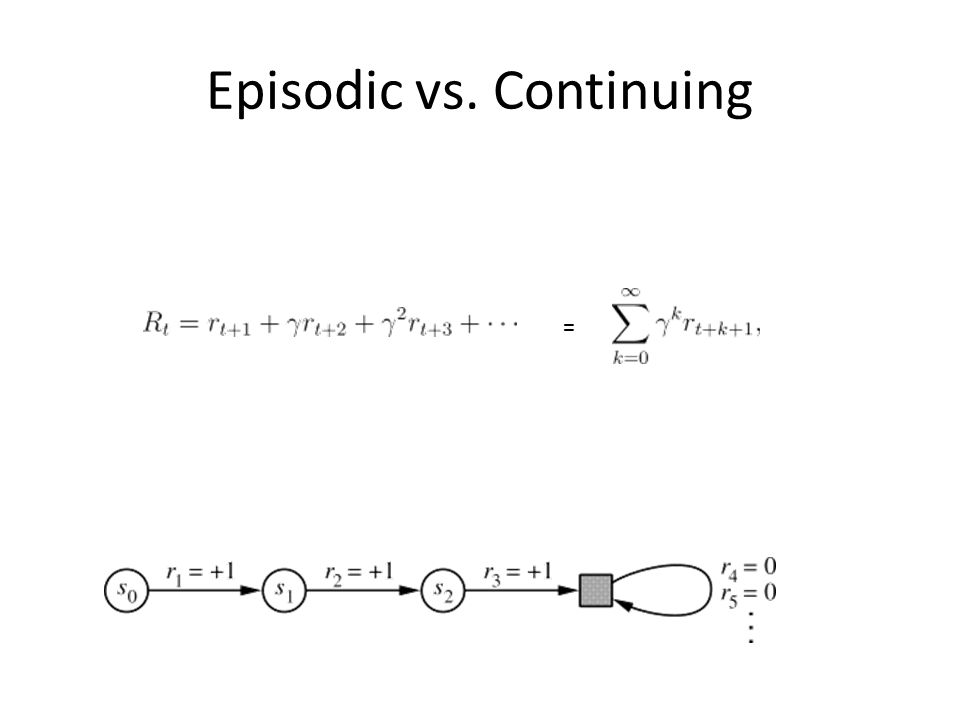 Episodic vs. Continuing =