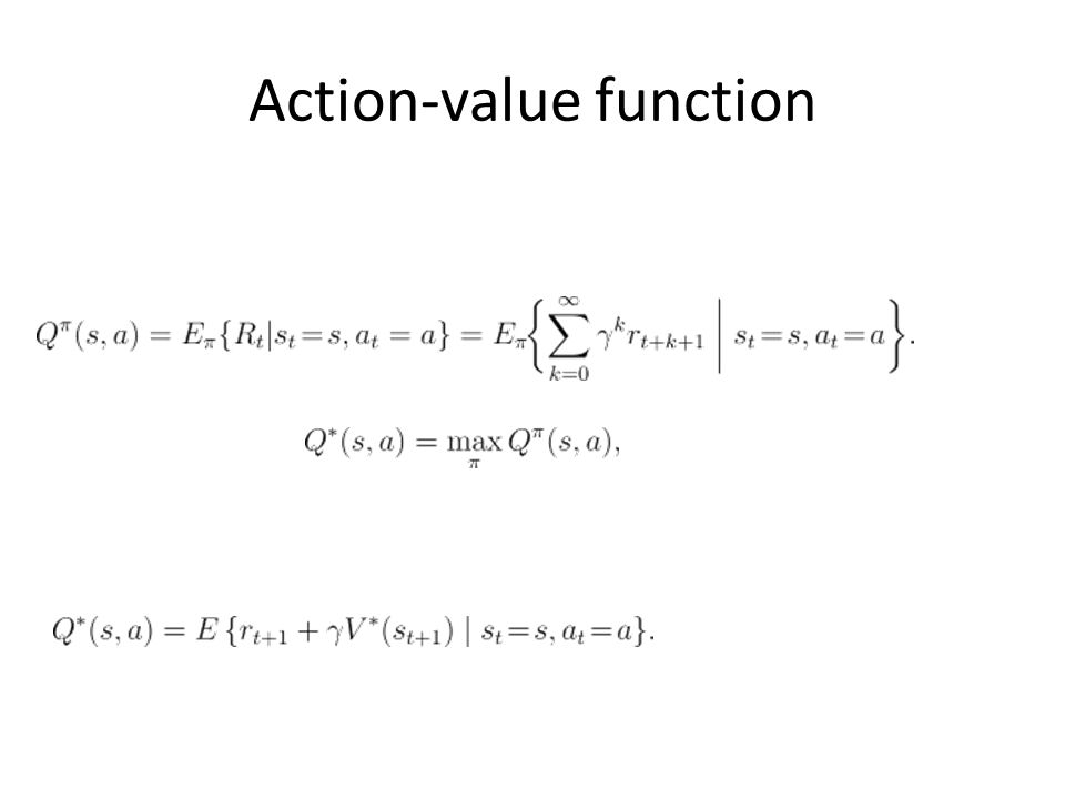 Action-value function