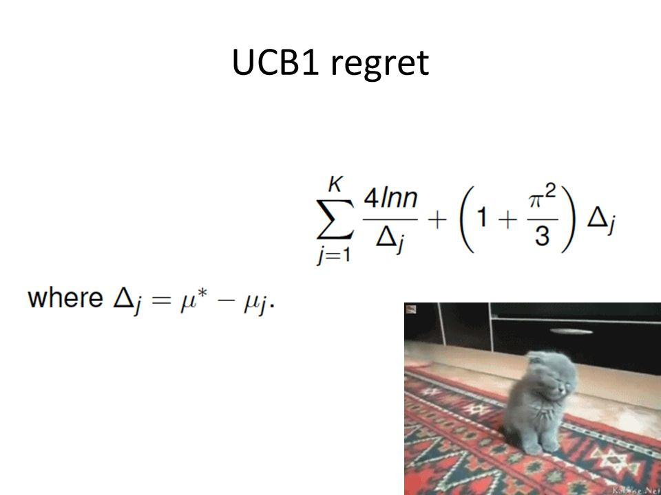 UCB1 regret