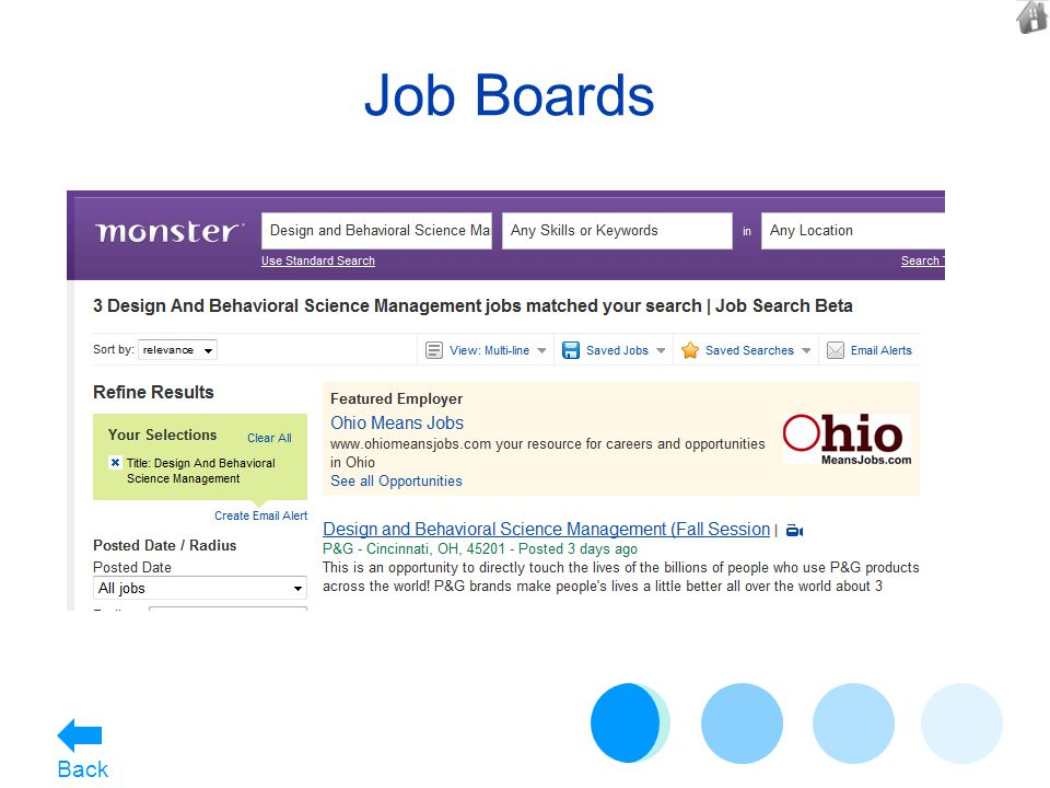 Job Boards Back