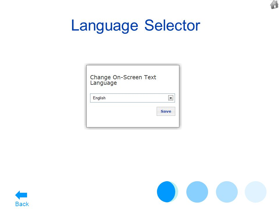 Language Selector Back