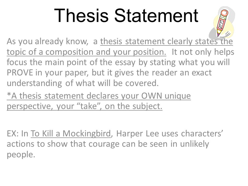 Making A Thesis Statement