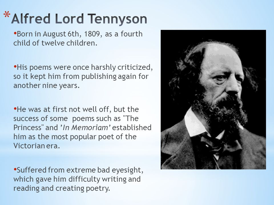 Born in August 6th, 1809, as a fourth child of twelve children.