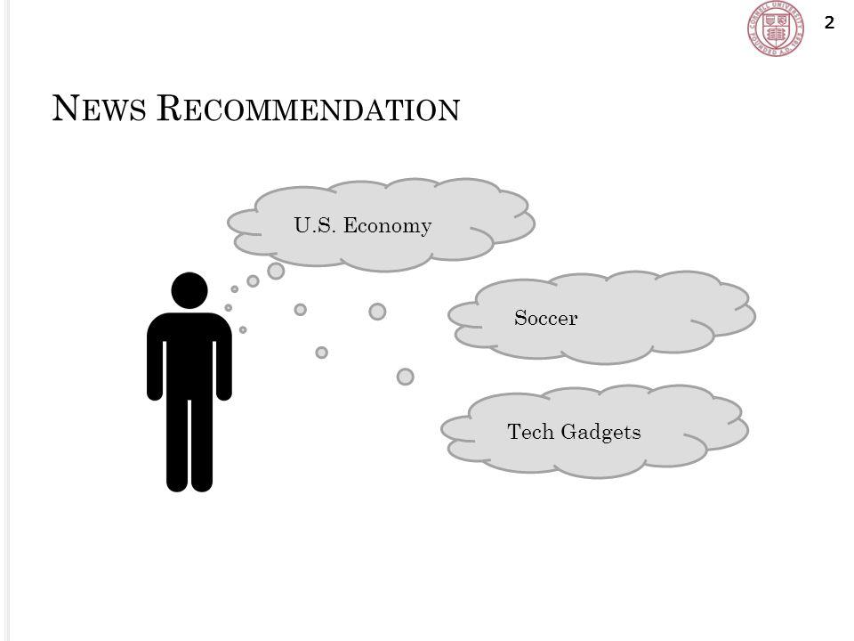 N EWS R ECOMMENDATION 2 U.S. Economy Soccer Tech Gadgets