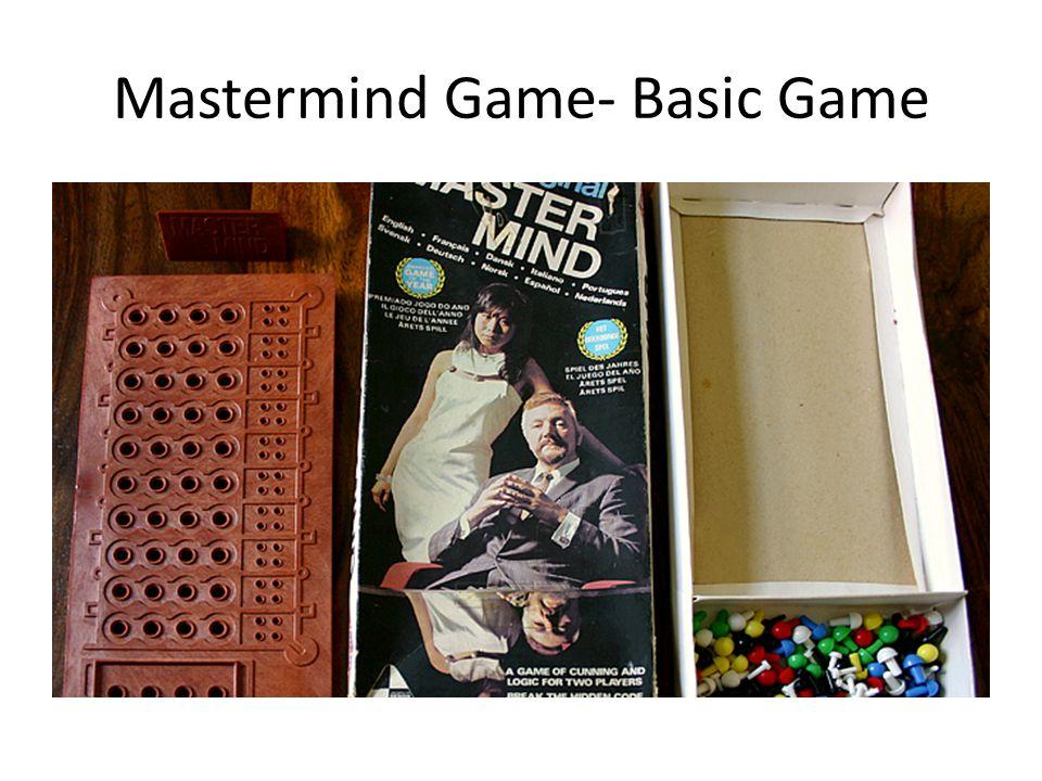 Mastermind Game- Basic Game