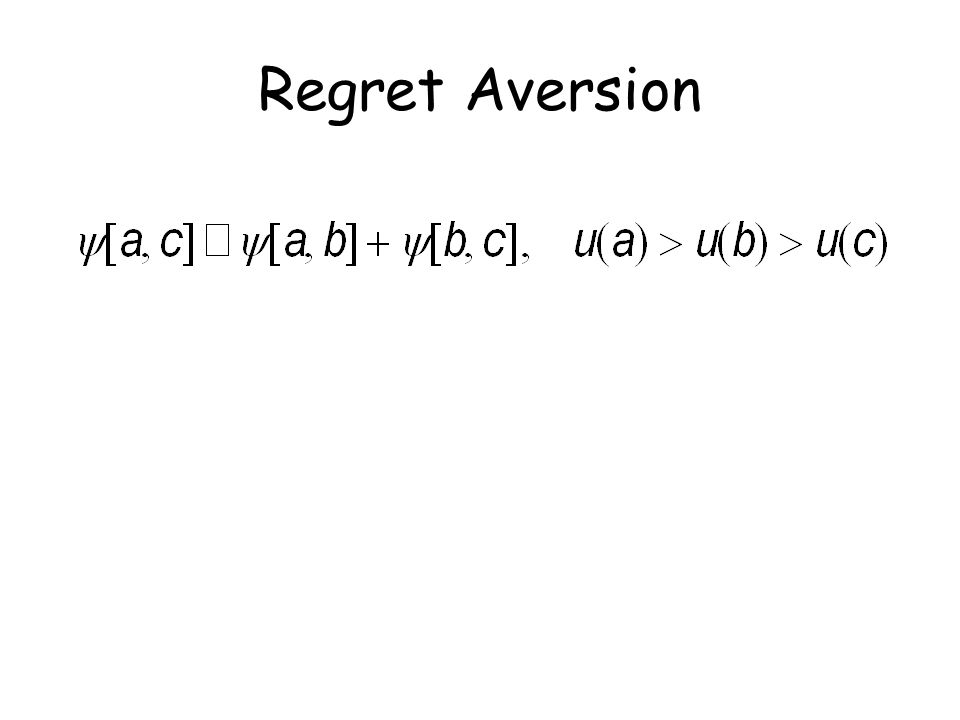 Regret Aversion