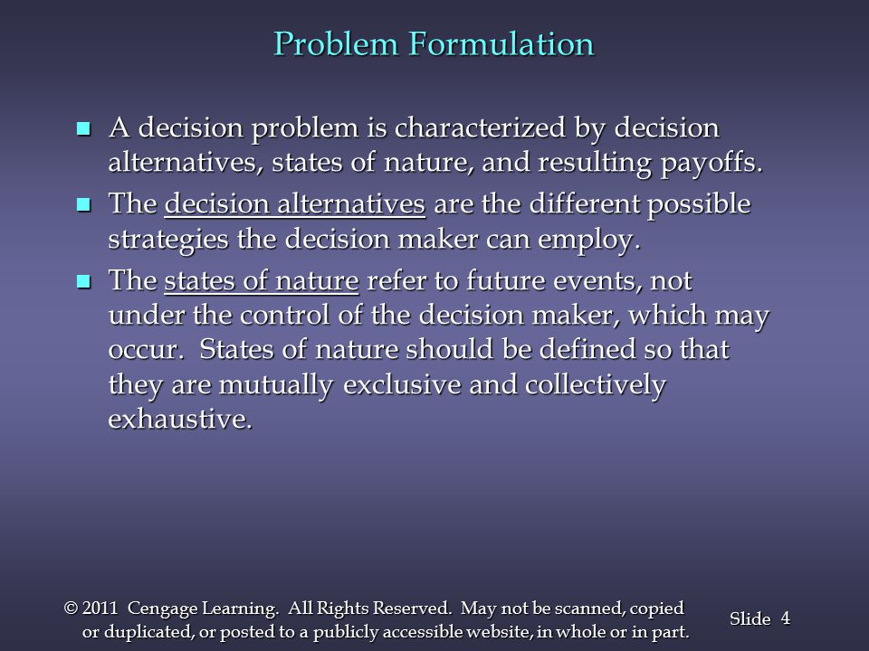 15 Slide © 2011 Cengage Learning.All Rights Reserved.