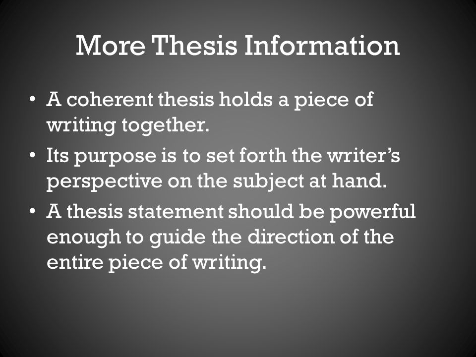 difference between controlling statement and thesis