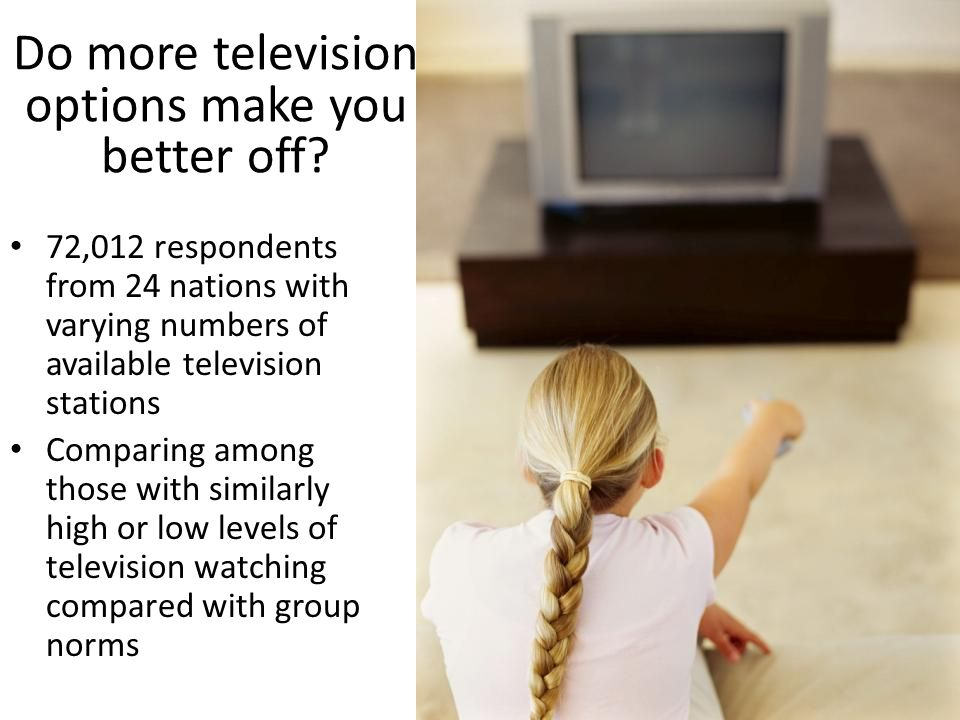 Do more television options make you better off.