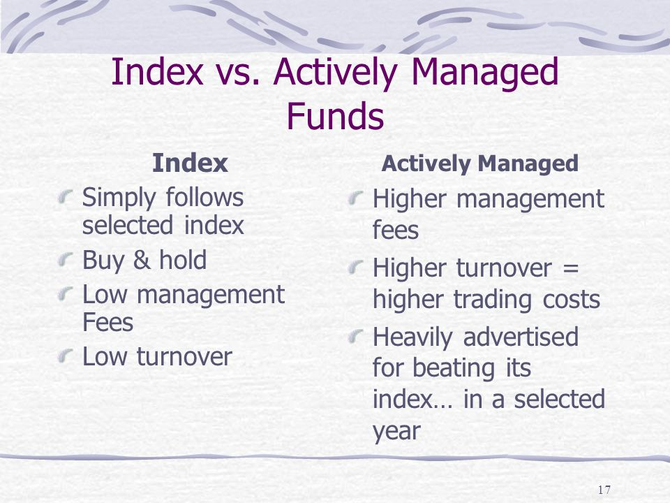 17 Index vs.