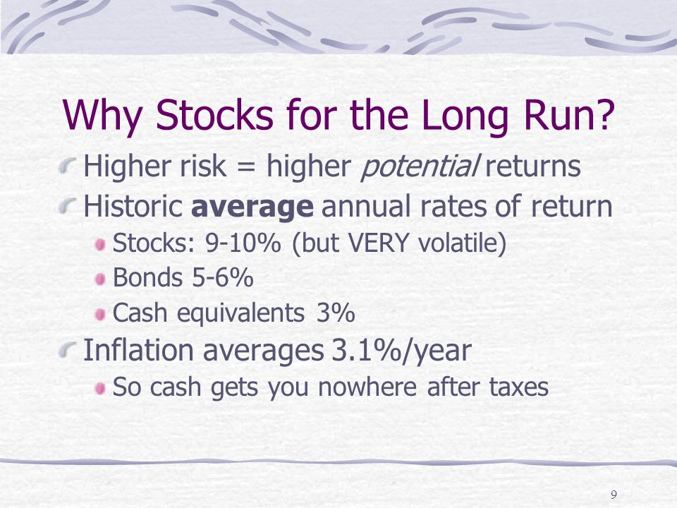 9 Why Stocks for the Long Run.