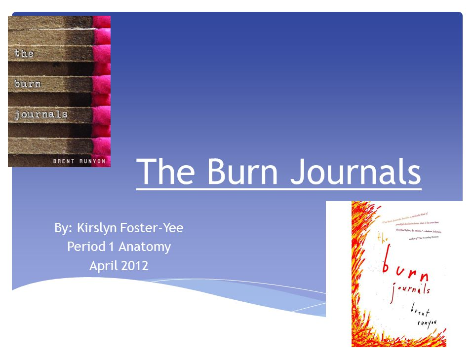  Title: The Burn Journals  Author: Brent Runyon  Publishing date 10/11/2005.
