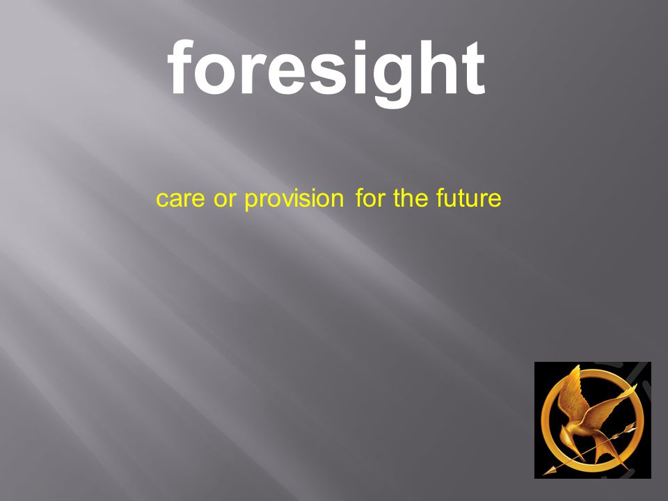 foresight care or provision for the future