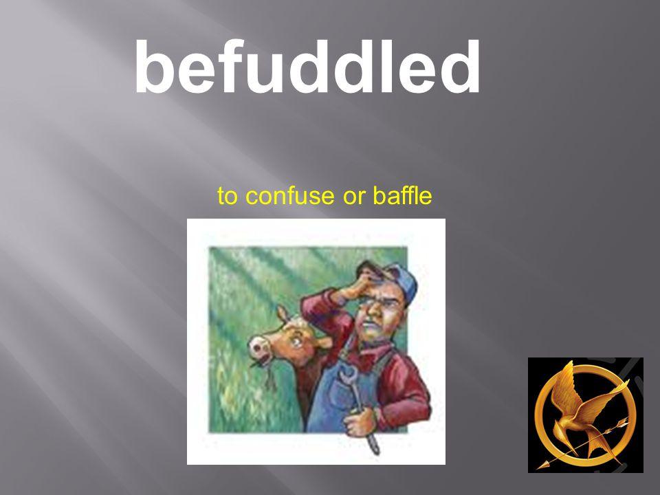 befuddled to confuse or baffle