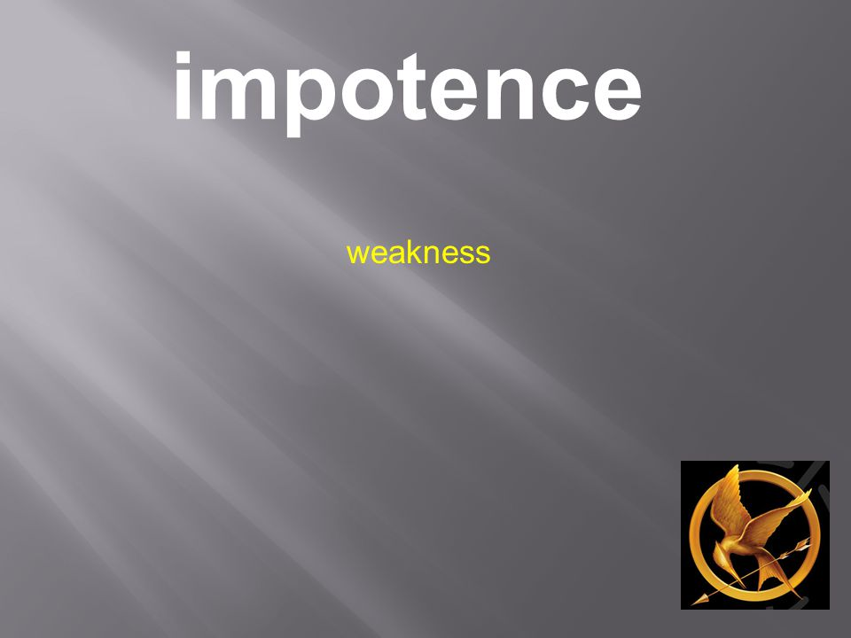 impotence weakness