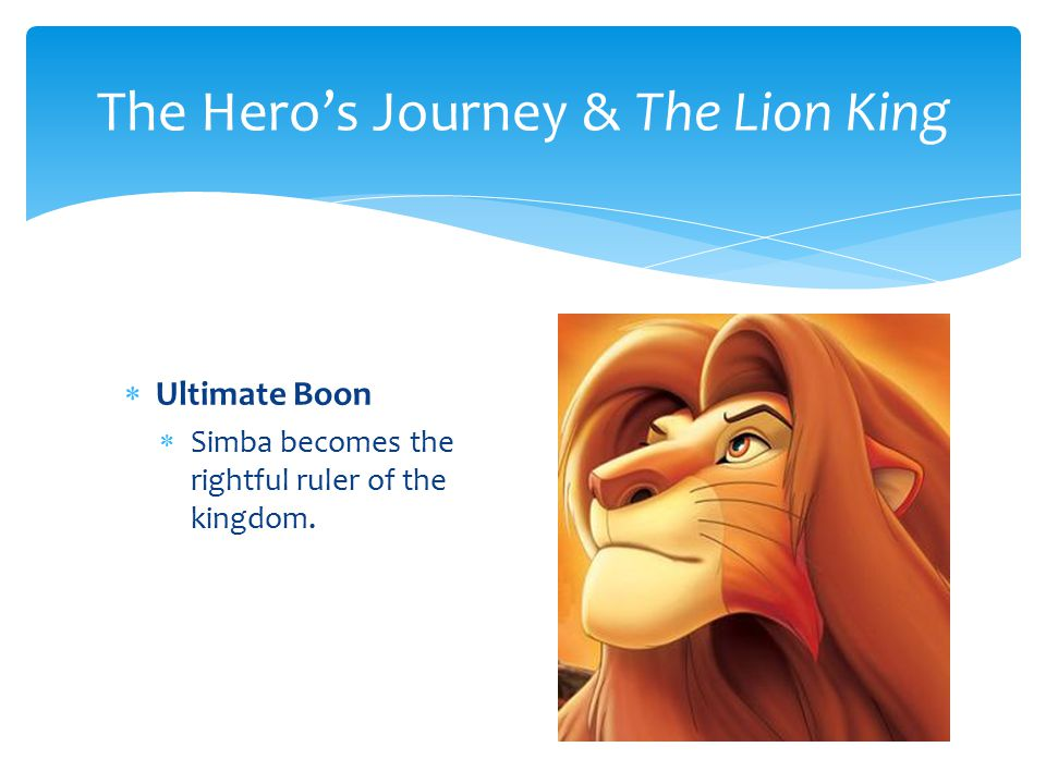  Ultimate Boon  Simba becomes the rightful ruler of the kingdom.