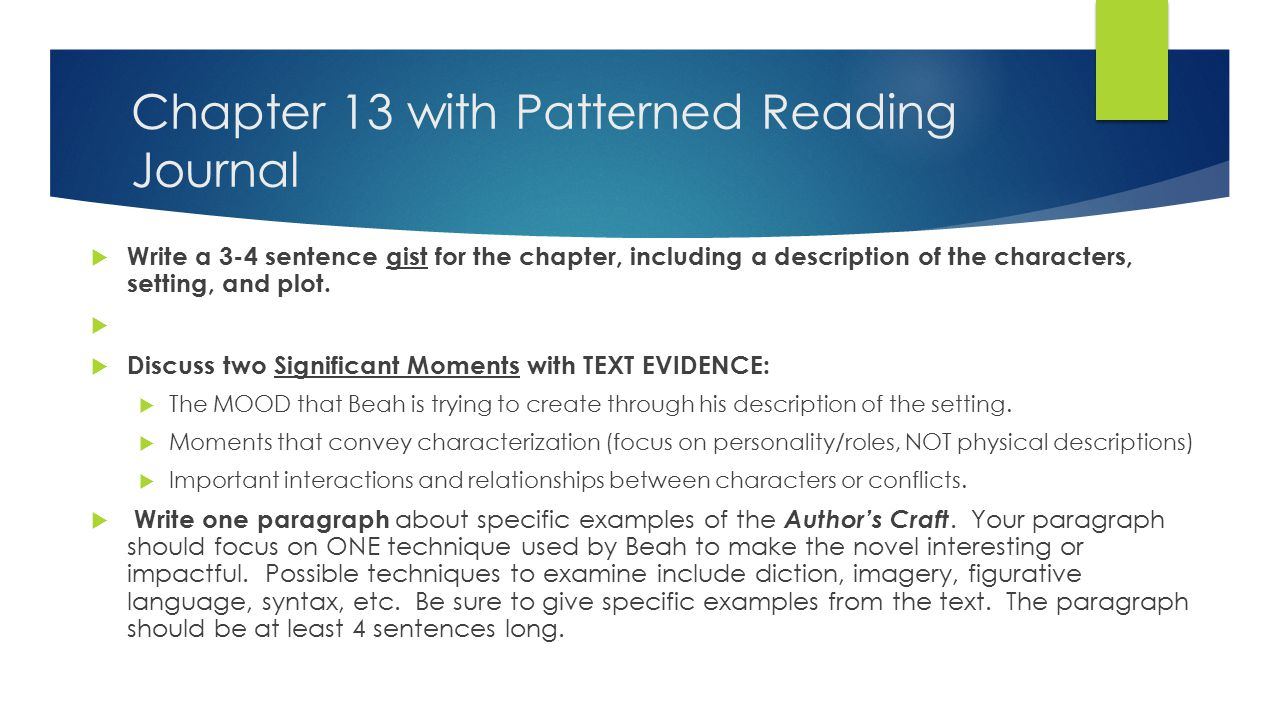 Chapter 14 As you read…  Highlight for author's craft & theme.