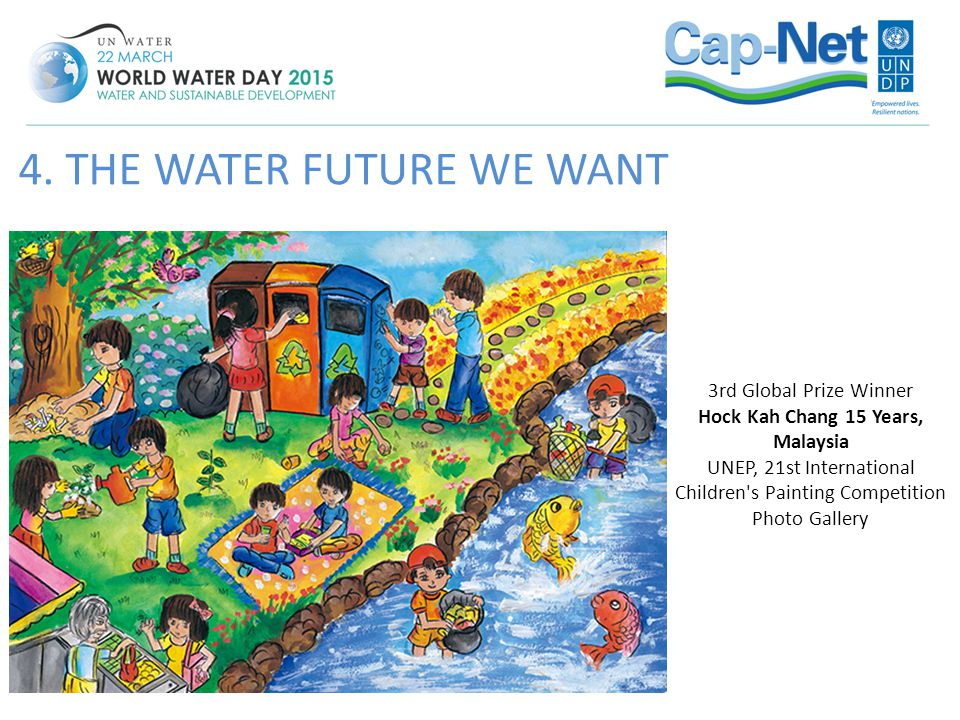 4. THE WATER FUTURE WE WANT 3rd Global Prize Winner Hock Kah Chang 15 Years, Malaysia UNEP, 21st International Children's Painting Competition Photo G