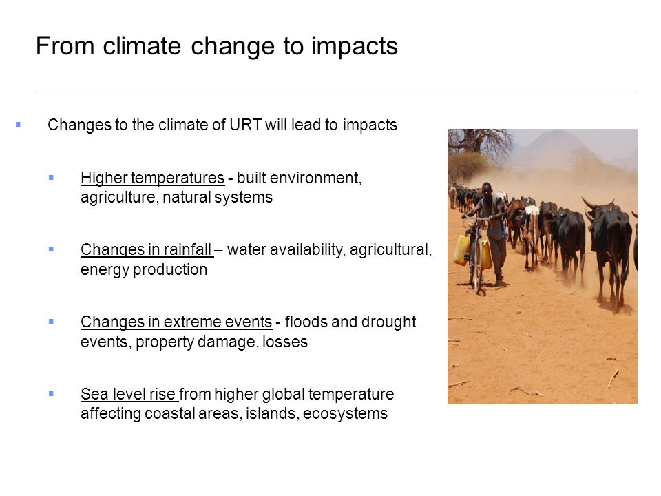  These impacts assume we do nothing and let impacts happen  We can reduce the potential impacts with adaptation  Adaptation = an adjustment in natural or human systems - in response to actual or expected effects - which reduces impacts or exploits beneficial opportunities.