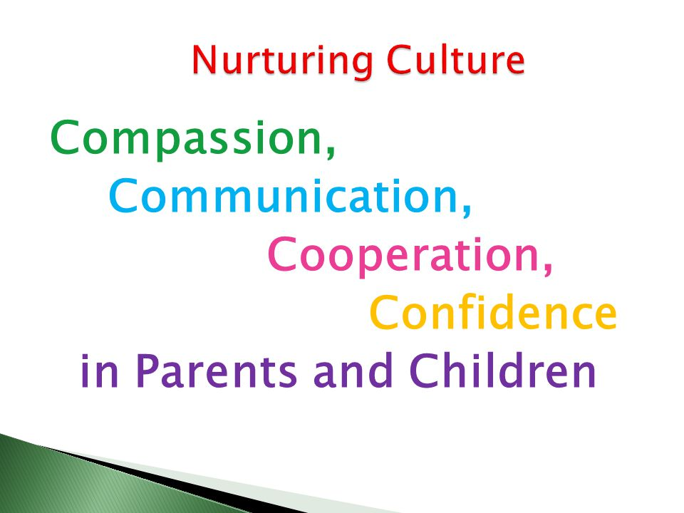 Compassion, Communication, Cooperation, Confidence in Parents and Children