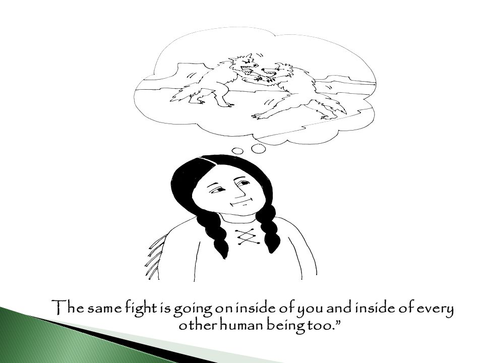 The same fight is going on inside of you and inside of every other human being too.