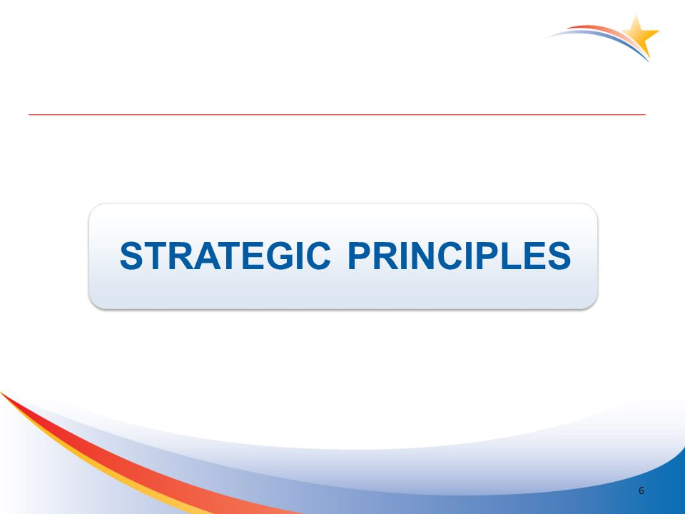 STRATEGIC PRINCIPLES 6
