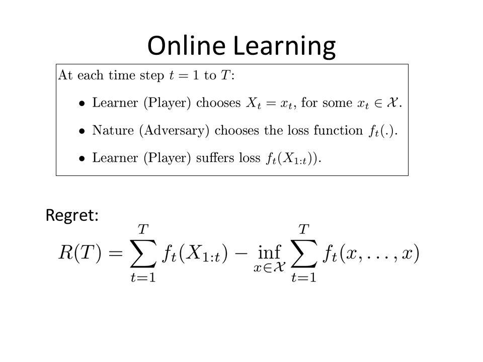 Online Learning Regret:
