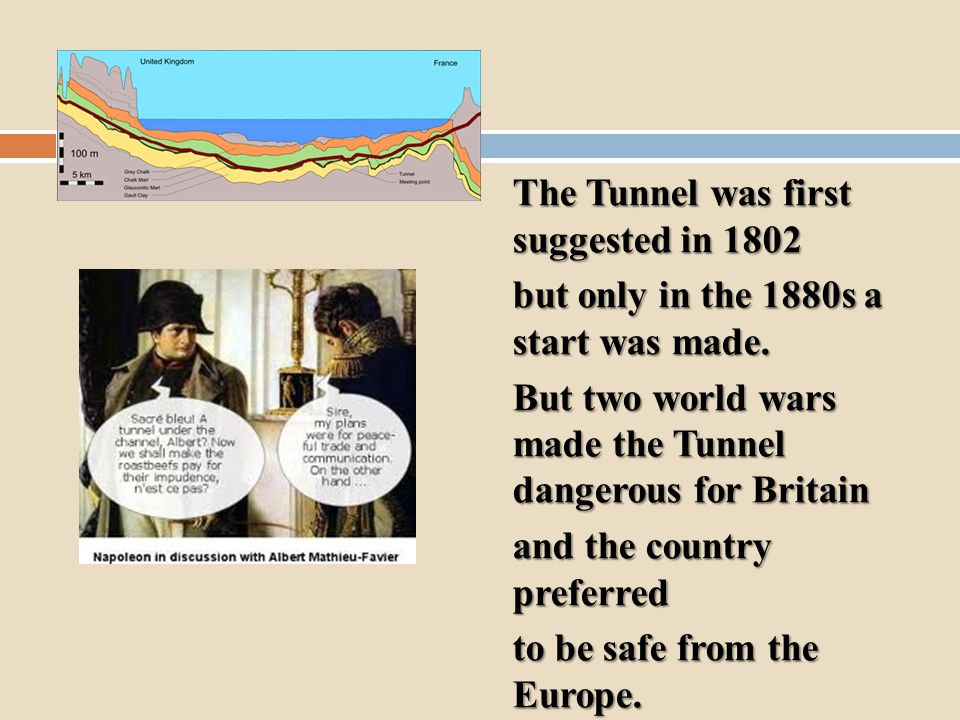 The Tunnel was first suggested in 1802 but only in the 1880s a start was made.